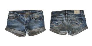 女性的牛仔布短裤 图库摄影
