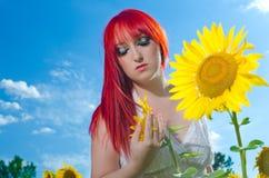 女性的表达式 免版税图库摄影