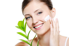 女性皮肤skincare 图库摄影