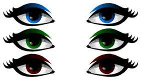 女性眼睛的低多例证 向量例证