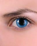 女性眼睛美好的形状  免版税图库摄影
