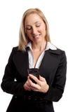 女性移动电话使用 库存图片