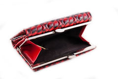 女性红色提包 库存图片