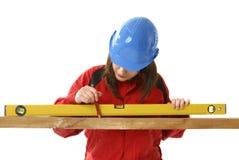 女性级别工作者年轻人 免版税库存照片