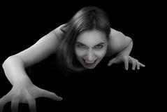 女性纵向吸血鬼 免版税库存照片