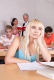 女性纵向学员 免版税图库摄影