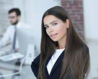 女性经理在工作场所 图库摄影