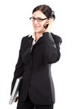 女性经理打电话 免版税图库摄影