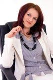 女性经理纵向成功的年轻人 免版税库存照片