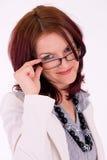 女性经理纵向成功的年轻人 免版税库存图片