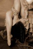 女性绑腿 库存照片