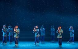 女性美德中国民间舞 免版税库存照片