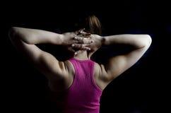 女性肌肉 免版税库存照片