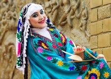女性舞蹈家,印度 图库摄影