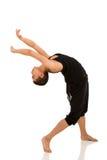 女性舞蹈演员跳舞 免版税库存照片