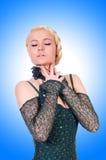 女性舞蹈演员跳舞 库存图片