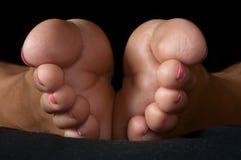 女性英尺脚趾 免版税库存照片