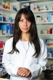 女性药剂师纵向 免版税库存图片