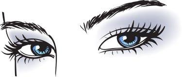 女性蓝眼睛 库存图片
