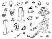 女性衣物的传染媒介例证 库存照片