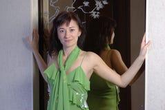 女性褂子绿色 免版税库存图片