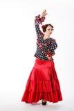 女性西班牙佛拉明柯舞曲舞蹈家 免版税库存照片