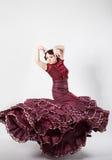女性西班牙佛拉明柯舞曲舞蹈家 库存图片