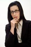 女性认为 免版税库存图片