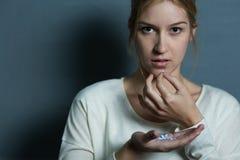 女性设法自杀 库存图片