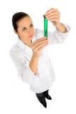 女性试验室工怍人员 图库摄影