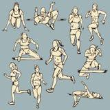 女性赛跑者体育例证 库存图片