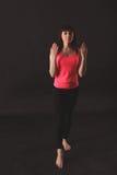 年轻女性跳舞爵士乐 库存图片