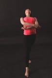 年轻女性跳舞爵士乐 免版税图库摄影