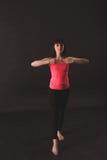 年轻女性跳舞爵士乐 图库摄影