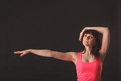 年轻女性跳舞爵士乐 库存照片