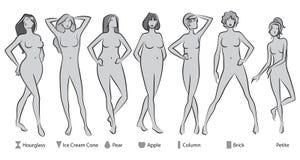 女性身体形状 免版税库存照片