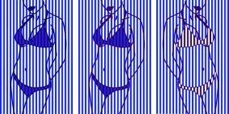 女性身体的剪影 皇族释放例证