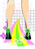 女性迪斯科英尺 免版税库存图片