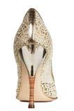 女性透雕细工鞋子 库存照片