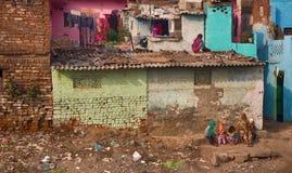 女性部分不作为富有的印地安家庭 图库摄影
