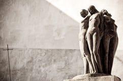 女性雕象 免版税库存图片
