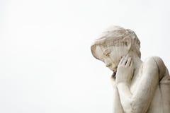女性雕象 免版税库存照片