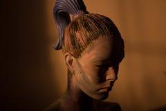 女性雕象头 库存图片