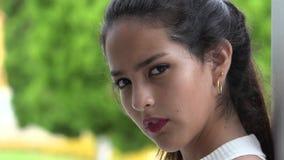 女性青少年的面孔 股票录像