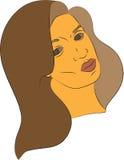 女性面孔例证 库存图片