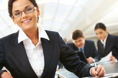 女性领导先锋 免版税库存图片