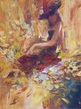 女性,手工制造绘画 库存图片