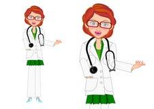 女性医生介绍 向量例证