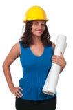 女性建筑工人 免版税图库摄影