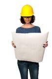 女性建筑工人 免版税库存照片